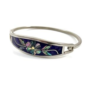 Vintage abalone flower bracelet from MEXICO